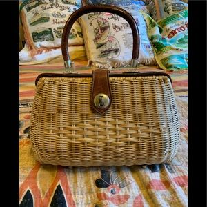 Vintage 1950s basket purse